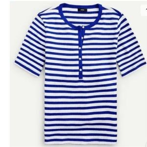 J crew Henley Top Ribbed Shirt Round Neck Pullover